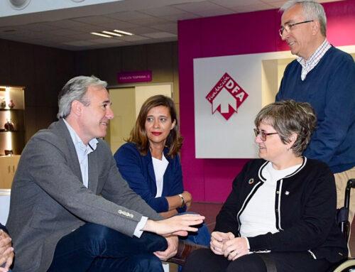Azcón aboga por una Zaragoza más solidaria con la inclusión